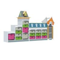 China Kids furniture Children's Wooden Role Play Cabinets on sale