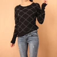 China Gold And Silver Line Long Sleeve Pullover Sweater(WA086) on sale