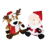 China Animated Battery Operated Musical Santa Reindeer on sale