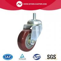 China Thread Stem Rotating Industrial Castor Rubber Wheel wholesale