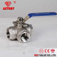 China Stainless Steel Thread Ends Floating 1/4~4'' 1000WOG 3 Way Ball Valve wholesale