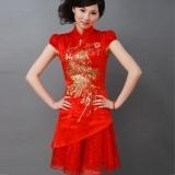 Quality Chinese - Red Cheongsam - Wedding Dress for sale