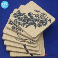 China Products 2016 Hot selling novelty waterproof coasters custom cork coaster placemats wholesale