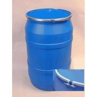 Buy cheap 55 Gallon Open Head Plastic Drum with Plain Bolt Ring Cover - Blue from wholesalers