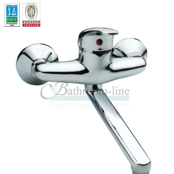 Faucet Wall Mounted Chrome Fitting Kitchen Sink Mixer Tap