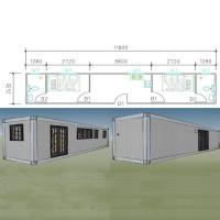 China Container Houses Sandwich Panel 20ft Flat Pack Modified Shipping Container Homes Manufacturer on sale