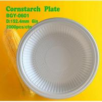 Buy cheap Cornstarch Plate 6inch from wholesalers