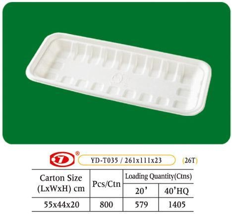"Quality Tray Bagasse Tray 10"" x 4"" for sale"