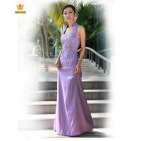 China 2200#Lavender cheongsam style of formal dress on sale