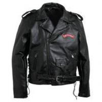 Buy cheap Men's Hand-Sewn Pebble Grain Genuine Buffalo Leather Jacket from wholesalers