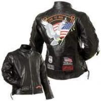 Buy cheap Ladies' Rock Design Genuine Buffalo Leather Motorcycle Jacket from wholesalers