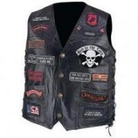 Buy cheap Patriot Patches Motorcycle Leather Vest from wholesalers