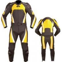 Buy cheap MotoArt Yellow Motorcycle Racing Leather Suit - Suzuki GSX-R Theme from wholesalers