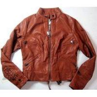 Buy cheap Womens Premium Cowhide Tan Leather Jacket from wholesalers
