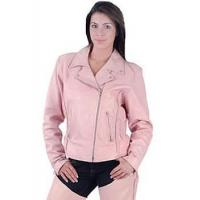 China Soft Pink Motorcycle Jacket with Braid wholesale