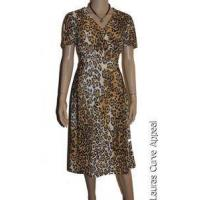 China Dresses Womens PLUS SIZE 2X 16/18 Brown Black Animal Cheetah Leopard Print Dress New wholesale