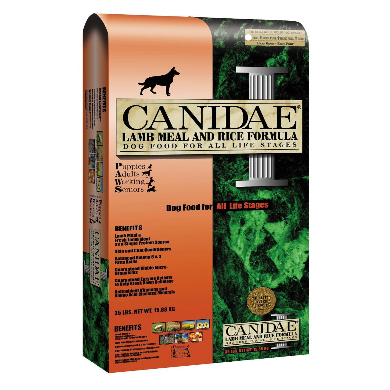 CANIDAE all life stages: lamb and rice dog food