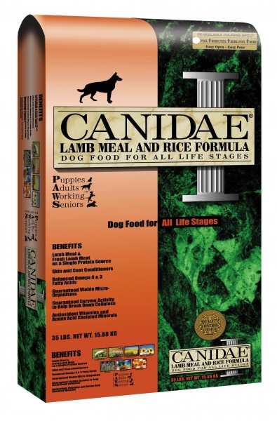 Quality CANIDAE all life stages: lamb and rice dog food for sale