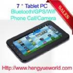 China 7 inch capacitive touch screen android 2.3 tablet pc with GPS+Bluetooth+Phone call Function wholesale