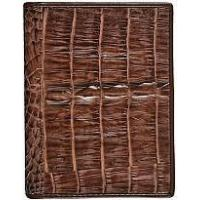 Genuine alligator leather card holder CM01T Brown
