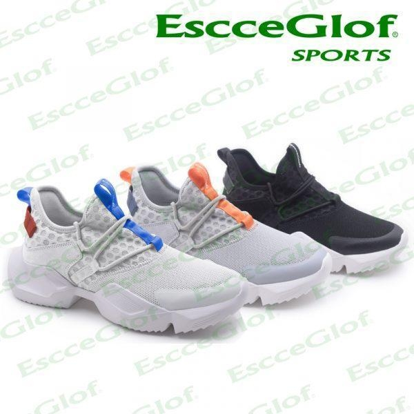 Quality MEN SNEAKER EscceGlof 18E12G004 Black Running Shoes for sale