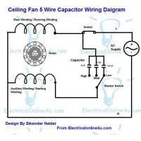 China Ceiling Fan 4 5 6 5 Capacitor Wiring Diagram on sale