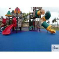 China ASTM certificated non-toxic safety EPDM rubber flooring kindergarten playground wholesale