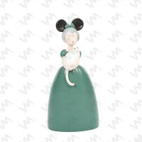 MCO-021 Girl with Cat Polyresin Furnishing Article
