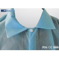 Disposable laboratory coats gown suppliers double collar 4 press studs no pockets
