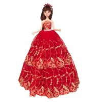 Girl Doll Cute Princess Wedding Party Gown Tutu Dress Clothes for Holiday Gift