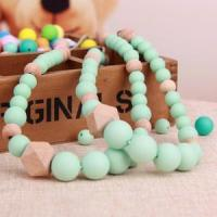 Silicone Beaded Baby Teething Necklace Jewelry