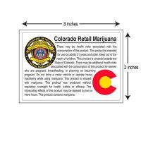 Colorado Red Retail Compliant Labels Large Size 1000/Roll