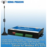 Buy cheap Cellular IoT Modbus RTU (8DIN,6AIN/PT100,4Relay,1TH,USB,RS485,320 Extend I/O tags) from wholesalers
