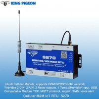 Buy cheap Cellular M2M IoT RTU (2DIN,2AIN/PT100,2Relay,1TH,USB) from wholesalers