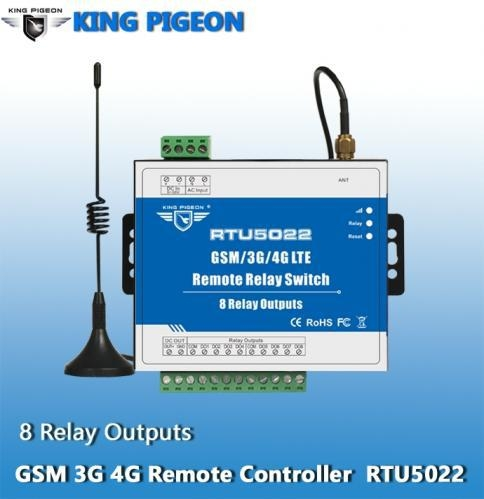 China GSM 3G 4G SMS Remote Controller(8 Relay Outputs)