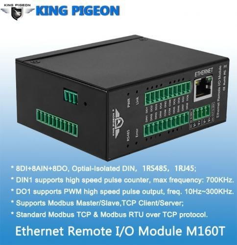 China Ethernet Remote IO Module(8DIN+8AIN+8DO,High speed pulse counter,pulse output)