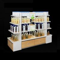 China factory wholesale retail store rack designs cosmetic shelving for makeup counter display wholesale