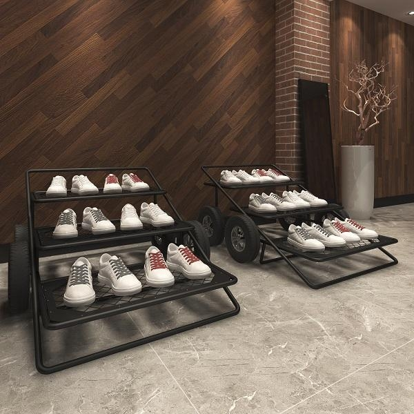 Quality modern special design shoe store interior design custom display furniture for shoe store for sale