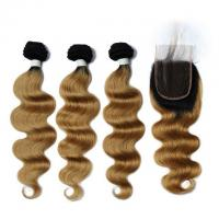 Buy cheap Vvwig Comfortable 1B 27 Ombre Hair Body Wave Brazilian 100% Human Hair 3 Bundles from wholesalers