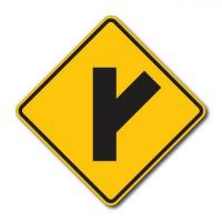 Buy cheap Construction Signs W2-3 Side Road from wholesalers