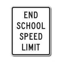 Buy cheap Construction Signs S5-3 End School Speed Limit from wholesalers
