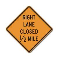 Buy cheap CW20-5 Left/Right Lane Closed X Mile (variable) from wholesalers
