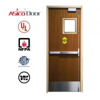 Buy cheap Wooden Fire Door with Glass from wholesalers