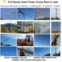 China Tower Crane Rent MCT85 F5 Tower Crane Lease Rent Hire wholesale